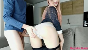 Naughty schoolgirl jenna ivory pounded by tutor