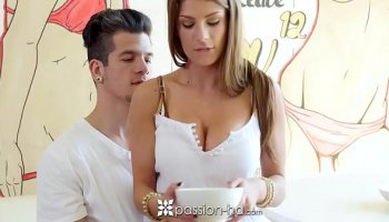 Bondage humiliation and punishment for busty bitch